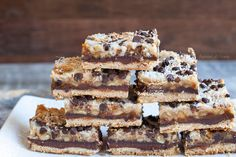Seven Layer Bars egg free, grain free, food, dairy free, gluten free, layer bar, dessert bars, treat, paleo desserts