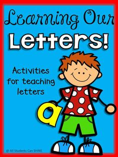 Learning Our Letters With Literacy Centers. SO many great idea for teaching letter sounds!