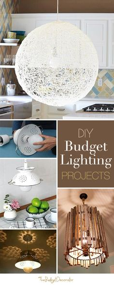 #DIY Budget #Lighting Projects • Lots of Ideas and #Tutorials!