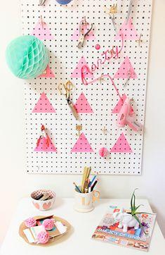 DIY Geometric Peg Board