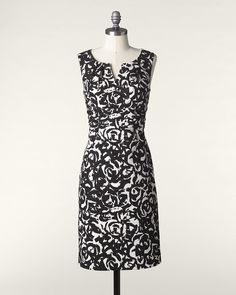 Painted Canvas Dress #ColdwaterCreek #ChenalShopping