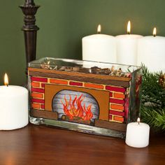 Glass Block Crafts Gifts On Pinterest Glasses Painted