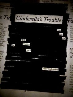 Profound newspaper blackout poetry :) love it