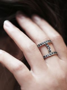 Vanessa Mooney Caged Stone Ring