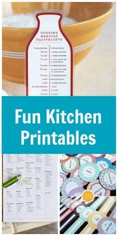 Fun {and Free!} Kitchen Printables