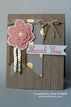 Rustic Bling handmade thank cards, masculine cards, hardwood background, cards thank you, simpl stem, i like you stampin up, paper crafts, diy thank you card, stampin up cards