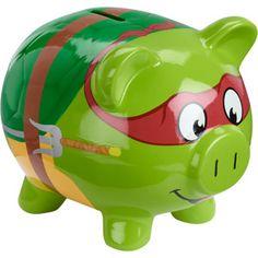 Ninja Turtle Piggy Bank.  Your favourite piggy banks: http://www.helpmetosave.com/2012/02/piggy-bank/