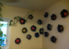 Melted Vinyl Record Bowl...bend to look like flowers