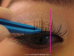 A really good tutorial on how to apply fake lashes if you suck like I do