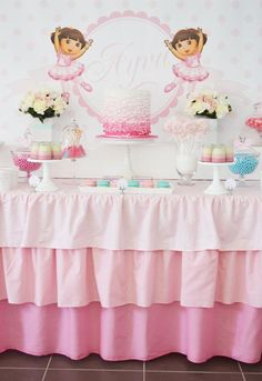 DORA Ballerina Birthday Party via Kara's Party Ideas - www.KarasPartyIdeas.com #dora #birthday #party #ideas