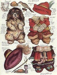 vintage dog paper dolls