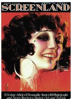 december, armstrong art, vintag poster, magazines, pola negri, rolf armstrong, blog, 1920s, silent movi