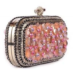 Bolso de fiesta morado y lila de cristales Swarovski www.sanci.es
