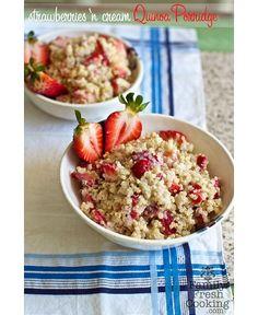 Strawberry quinoa porridge
