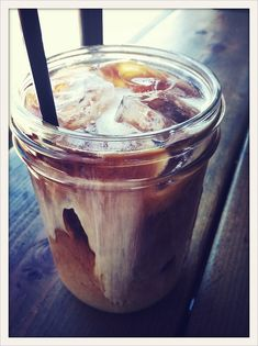 Iced Coffee in a Jar.