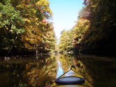 Fall paddle on the Flint River in Lapeer County, Michigan