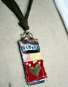 art quilt pendant....wonderful ides!