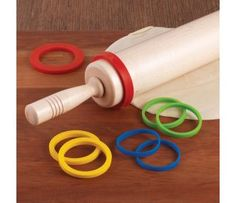 Silicone Rolling Pin Rings - Roll dough to precise thickness with this set of rolling pin guide rings.