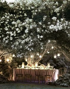 ✕ A beautiful and magical outdoor dinner… / #dinner #summer