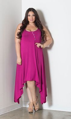 #plussize handkerchief dress at Curvalicious Clothes #bbw #curvy #fullfigured #plussize #thick #beautiful #fashionista #style #fashion #shop #online www.curvaliciousclothes.com TAKE 15% OFF Use code: TAKE15 at checkout