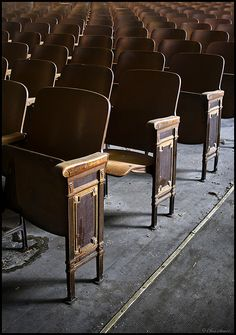 School auditorium seats.