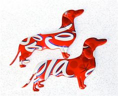 Recycled Soda Can Art Dachshunds