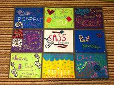 Middle School Girls Group Blog Post, Felt Quilt for Final Activity