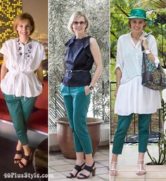 The essential guide on how to wear capris - how to wear green printed capris | 40plusstyle.com