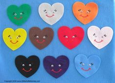 Ten Little Hearts Felt Board Flannel Board by GlitterfulStories