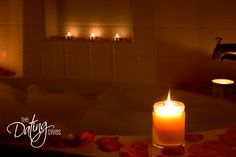 massage ideas. . . Candles, BBath, Rosepetals