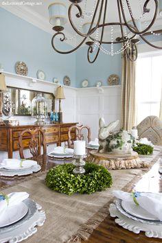 Aqua Dining Room Lettered Cottage 1