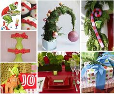 How the Grinch stole Christmas party theme ideas. This is TOTALLY  my kind of Christmas fun!!!!