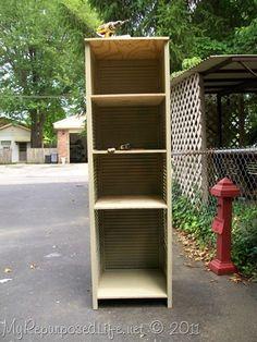 repurpose louvered bifold doors