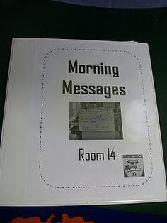 Morning Message Ideas :)