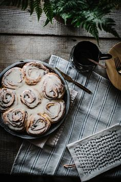 Soft Cinnamon Rose Rolls with Creme Fraiche Icing