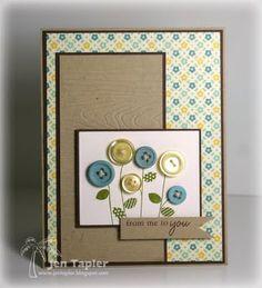 Cute card w/ buttons