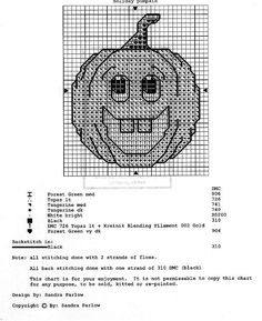 Cross stitch pumpkin pattern