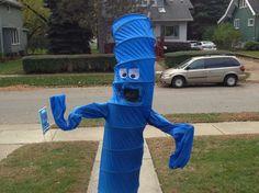 diy inflat, costum wacki, halloween costumes, wave tube, wave inflat