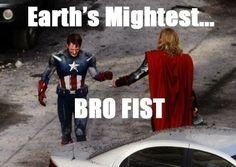 Bro Fist Bumps.   Avengers-Movie-Funny-Pics-Photos-Iron-Man-Ironman-Tony-Stark-Capt-America-Loki-Hulk-Black-Widow-Thor-WhenInManila (4)