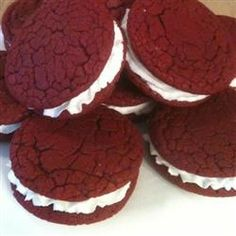"Dawn's Easy Red Velvet Sandwich Cookies | ""This recipe is fabulous ..."