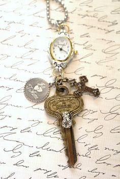 I love the combination of the key and the time piece!