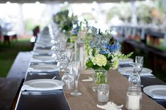 Rustic Chic Blue and Green Beach Wedding