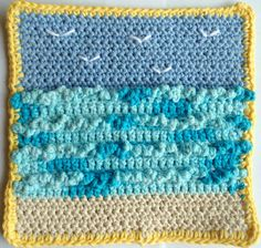 beaches, free pattern, seagul, patterns, beach houses, crochet granni, granni squar, crochet dishcloths, crochet squar