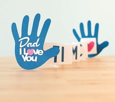 Dad, I love you THIS MUCH! Fun Father's Day card.