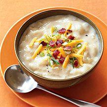 soups, sour cream, baked potatoes, weight watchers menu, bake potato, baked potato soup, the great, weight watcher recipes, points plus