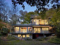Nestled in a Lush Forest in Pennsylvania: The Seidenberg House