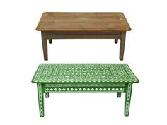 Turn a banged up coffee table into a patterned piece you'll want to show off #diy #hgtvmagazine http://www.hgtv.com/decorating-basics/flea-market-flips/pictures/page-5.html?soc=pinterest