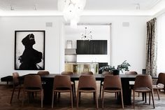 dining rooms, dine room, dining chairs, white walls, dinner parties, dining spaces, kitchen, interior photography, dining tables