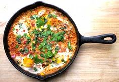 Eggs Poached in a Spiced Tomato Sauce (Shakshouka) - My Heart Beets