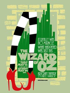 Beautiful poster for the Wizard of Oz!